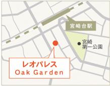 レオパレス Oak Garden地図画像