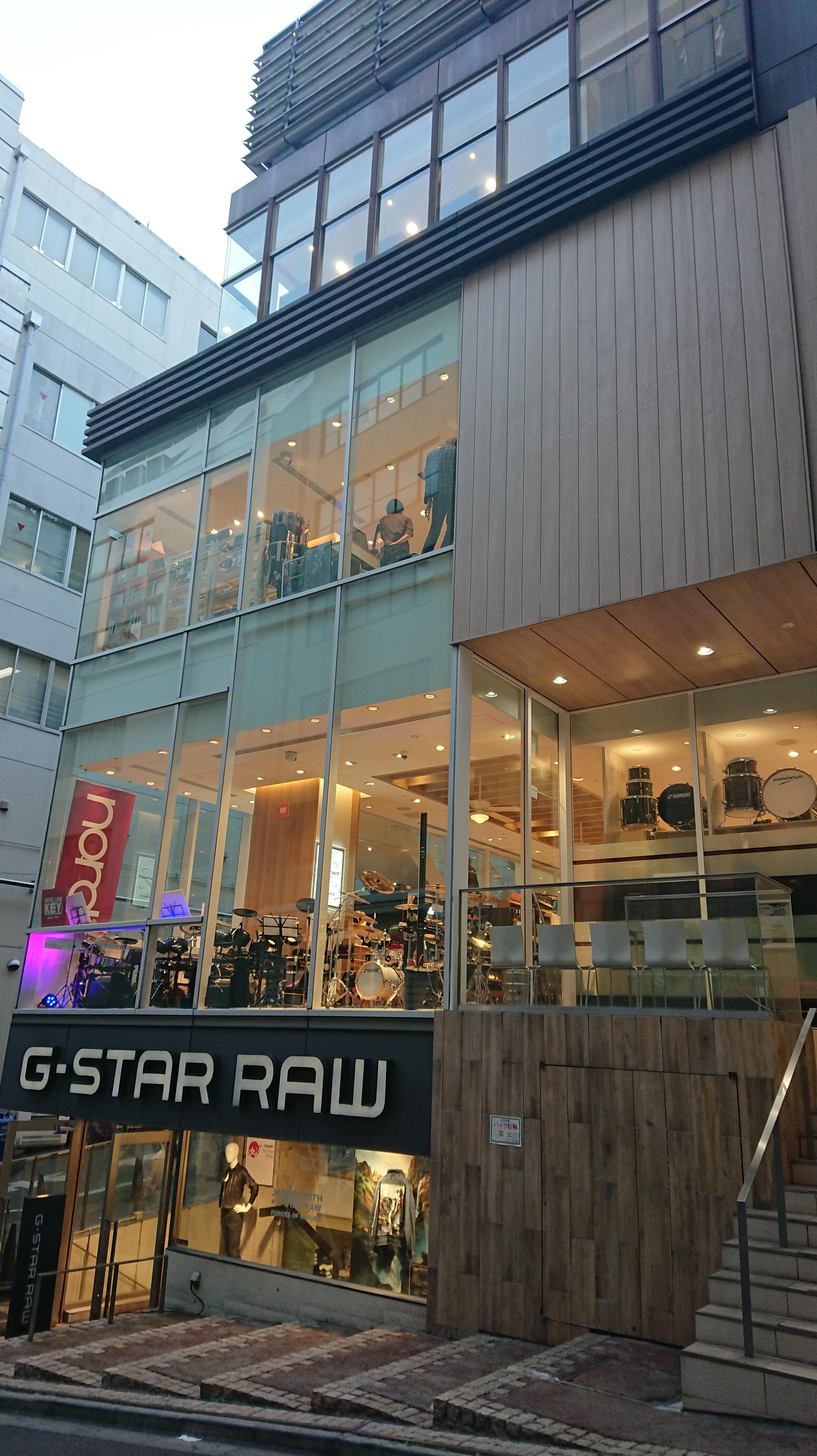 ミュージックランドKEY渋谷店の外観。