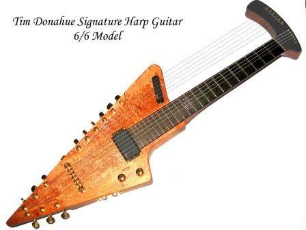 ティムドナヒューモデル ハープギターのカタログ掲載写真。